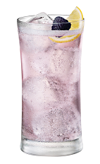 The Chambord Vodka and Perrier drink is made from Chambord flavored vodka and Perrier water, and served over ice in a highball glass.