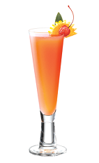 Almost as good as champagne wishes and caviar dreams, an orange colored cocktail that would satisfy even the cultured palate of Robin Leach. The Champagne Dreams drink recipe is made from PAMA pomegranate liqueur, Grand Marnier orange liqueur, orange juice and chilled champagne, and served in a chilled champagne flute decorated with fruit.