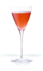 The Champs Elysees cocktail is a classic drink made from Cointreau orange liqueur, strawberry liqueur and chilled champagne, and served in a chilled champagne glass or cocktail glass.
