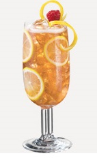 The Charleston Lemonade is a refreshing summer drink recipe made from Burnett's sweet tea vodka, lemonade and white cranberry juice, and served over ice in a tall glass.