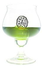 The Chartreuse on the Rocks is a classic digestif, perfect after a healthy meal. An aromatic green drink made from Green Chartreuse, and served in a brandy snifter.