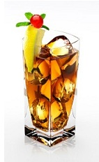 The Cherry Disaronno is a refreshing cocktail made from Disaronno liqueur and cherry juice, and served over ice in a highball glass.