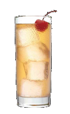 The Cherry Temple drink recipe is a play on the classic Shirley Temple virgin cocktail. A pinkish colored drink recipe made from Three Olives cherry vodka, ginger ale and grenadine, and served over ice in a highball glass.