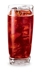The Cherry Vanilla Pop is a red drink made from cherry schnapps, vanilla liqueur and lemon-lime soda, and served over ice in a highball glass.