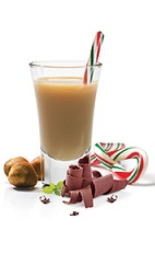 The Chocolate Candy Cane Shot is the ultimate Christmas drink. A brown shot made form Frangelico hazelnut liqueur, peppermint schnapps and Godiva chocolate liqueur, and served with a candy cane in a chilled shot glass.