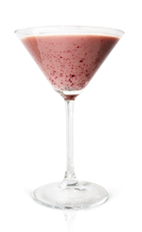 The Chocolate Covered Black Cherry is a pink colored cocktail made from Effen black cherry vodka, dark creme de cacao, half and half, cherry preserves and Angostura bitters, and served in a chilled cocktail glass.