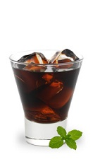 The Chocolate Mint Martini is a chocolate variation of the classic Black Russian cocktail. A brown drink made from chocolate mint liqueur and vodka, and served over ice in a rocks glass.