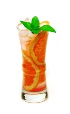 The Chopin Splash brings together the traditional flavors of good rye whiskey with herbal and fruit elements. Made from Chopin Rye vodka, Aperol, pink grapefruit juice and club soda, and served over ice in a highball glass.