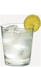 The Cinn Soda drink recipe is made from Burnett's hot cinnamon vodka and lemon-lime soda, and served over ice in a rocks glass.