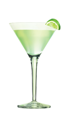 The Citri-tini is a green cocktail made from Smirnoff lime vodka, orange vodka, sour mix and pineapple juice, and served in a chilled cocktail glass.