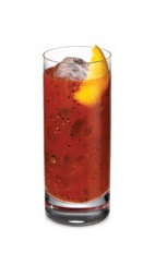 The Citroen Bloody Mary is an orange variation of the classic Bloody Mary drink. A red colored drink made from Ketel One Citroen vodka, tomato juice, salt, pepper, Tabasco sauce, Worcestershire sauce and lemon, and served over ice in a highball glass.