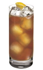 The Citroen Tea Time is a refreshing summer tea made from Ketel One citroen vodka, elderflower liqueur, iced tea, lemon juice and simple syrup, and served over ice in a highball glass.