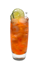 The Citrus Chiller is an orange drink made from Smirnoff citrus vodka, cranberry juice, orange juice and lime, and served over ice in a highball glass.