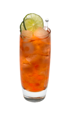 The Citrus Crush is an orange drink made from Smirnoff citrus vodka, cranberry juice and pineapple juice, and served over ice in a highball glass.