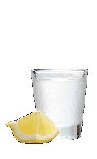 The Citrus Drop shot recipe is made from Three Olives citrus vodka, lemon and sugar, and served in a shot glass.