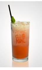 Nothing better than floating on cloud nine thanks to your lover, pay them back with a great drink this Valentine's Day. The Cloud Nine cocktail recipe is made from Flor de Cana rum, sake, pineapple juice, lime juice, orange juice, pomegranate syrup and ginger, and served over ice in a highball glass.
