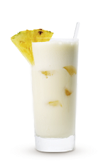 The Colada Cruzan is a cream colored tropical drink made from Cruzan aged light rum, pineapple juice and coconut cream, and served over ice in a highball glass.