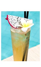 The Cradle of Colorado drink recipe is made from Boca Loca cachaca, St-Germain elderflower liqueur, vanilla syrup, pimento dram, lime juice, agave nectar and club soda, and served over ice in a highball glass.