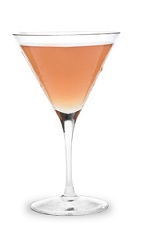 The Cran-Appletini is a peach colored drink made from Pucker sour apple schnapps, vodka and cranberry juice, and served in a chilled cocktail glass.