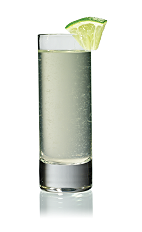 The Cranberi Drop Shot is made from Stoli Cranberi vodka, lemon juice and agave nectar, and served in a chilled shot glass.