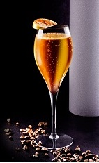 The Cremant Cocktail is a celebratory calvados-based cocktail perfect for any party. Made from calvados, Joseph Cartron triple sec, bitters, simple syrup and champagne, and served in a chilled wine glass.