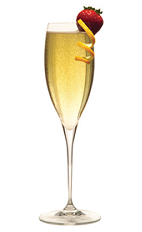 When you find yourself in the Caribbean celebrating New Year's Eve, nothing would be better than a local version of the classic Kir Royale cocktail. Made from Creole Shrubb orange liqueur, Angostura bitters and chilled champagne, and served in a chilled champagne flute.
