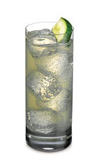 The Cucumber Cooler is a refreshing drink made from Ketel One Citroen vodka, cucumber slices, lime juice and ginger beer, and served over ice in a Collins glass.