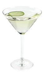 The Cucumber Martini is an elegant cocktail made from Effen cucumber vodka, dry white vermouth, absinthe and cucumber, and served in a chilled cocktail glass.