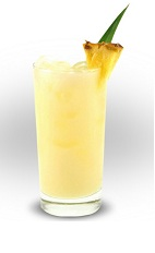 The Cuervo Pineapple drink is a yellow colored drink made from Jose Cuervo silver tequila and pineapple juice, and served over ice in a highball glass.