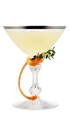The Daiquiri Milano cocktail is made from Galliano Vanilla liqueur, light rum, grapefruit juice and lime juice, and served in a chilled cocktail glass.