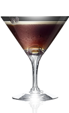 The Z Espresso Martini cocktail recipe is made from Danzka Fifty vodka, espresso and simple syrup, and served in a chilled cocktail glass.