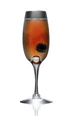 The Danzka Royal cocktail recipe is made from Danzka Currant vodka, blackberry liqueur and chilled champagne, and served in a chilled champagne flute.