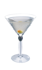 The Dirty martini is a classic clear colored cocktail made from vodka and olive juice, and served in a chilled cocktail glass.