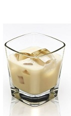 The Disaronno and Milk is a cream colored cocktail made from Disaronno and milk, and served over ice in a rocks glass.