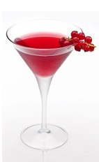 The Disaronno Cosmo is a radical variation of the classic Cosmo cocktail. A red cocktail made from Disaronno, vodka, cranberry juice, lime juice and red currant berries, and served in a chilled cocktail glass.