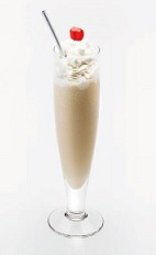 The Disaronno Milk Shake is a relaxing cream colored dessert cocktail made from Disaronno, milk and vanilla ice cream, and served in a chilled glass.