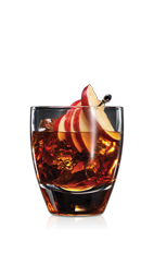 The Drunken Apple Punch is a party punch drink recipe made from Don Q white rum, Laird's Applejack, Amaro averno and Domain de Canton ginger liqueur, and served from a punch bowl in rocks glasses garnished with apple slices. Recipe serves about 20.