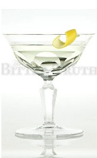 The Dry Martini is one of the most famous classic cocktails made. A clear cocktail made from gin or vodka, dry vermouth and bitters, and served in a chilled cocktail glass.