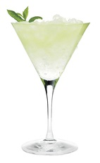 The Effen Picture Perfect is a refreshing cocktail made from Effen black cherry vodka, lime juice, simple syrup, mint and chilled champagne, and served in a chilled cocktail glass.