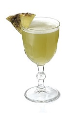 The El Gonquin cocktail recipe is a south-of-the-border version of the classic Algonquin whiskey drink. Made from Excellia tequila, Lillet blanc, pineapple juice and agave nectar, and served shaken in a chilled cocktail glass.