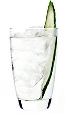 The Falling Water is a clear colored drink recipe made from 42 Below Feijoa vodka, cucumber and Sprite lemon-lime soda, and served over ice in a highball glass.