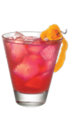 The Father is a robust American drink made from Wild Turkey bourbon, Cointreau, sweet vermouth, cranberry juice and bitters, and served over ice in a rocks glass.