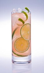 When you're in the mood for a new caipirinha recipe, look to the French for inspiration. The French Caipi is a pink colored drink recipe made from Leblon cachaca, St-Germain elderflower liqueur, lime, pink grapefruit juice and club soda, and served over ice in a highball glass.