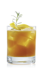 The French Connection is an orange drink made from the flavors of France and the Caribbean to create a well-balanced fruit cocktail. Made from dark rum, Mozart Black chocolate liqueur, grapefruit juice, vanilla syrup, lavender and ginger marmalade, and served over ice in a rocks glass.