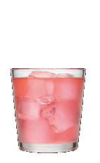 The Fresh Press is a pink colored drink recipe made from Three Olives whipped cream vodka, club soda, lemon-lime soda and cranberry juice, and served over ice in a rocks glass.