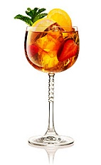 The Fruit Tea Cup is an Anglo version of the classic Spanish Sangria drink. Made from Beefeater gin, Lillet Blanc, lemon juice and Earl Grey tea, and served with seasonal fruit in a wine glass.