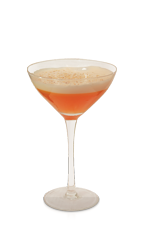Give your friends and family a fruitcake for Christmas, one that they will truly enjoy! The Fruitcake Sour is a wonderfully balanced orange colored cocktail recipe made from Don Q white rum, Disaronno amaretto, Aperol, cinnamon syrup, lemon juice, apricot preserves, egg white, cranberry bitters and nutmeg, and served in a chilled cocktail glass.