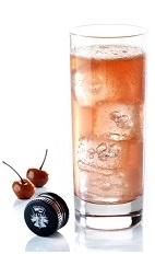 The G and T Fruit is a fruity variation of the classic Gin and Tonic drink. A pinkish colored drink made from dry gin, Joseph Cartron cherry brandy, lemon juice and tonic water, and served over ice in a Collins or highball glass.