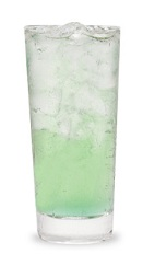 The Gin Appletonic is made from Pucker sour apple schnapps, gin and tonic water, and served over ice in a highball glass.