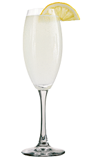The Gin Fizz Rose is a classy clear cocktail made from Rose's lemon cordial and gin, and served in a chilled champagne flute.